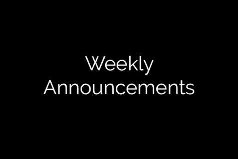 Announcements 3-14-17