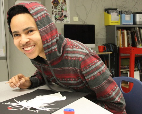 """""""This year I really need to focus more on my arts. I mean, I really do play around a lot but when I need to get serious I am able to do so. This is the year man, I really feel like this is my year. I'm way more focused on my arts and work so I can do it."""" Bryant Figueroa-Robnett, junior"""