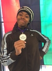 Bisa Adero with her fourth place medal from the Individual Competition