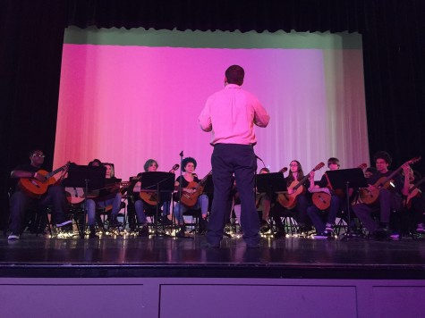 Middle and high school instrumental students present their first concert of the year
