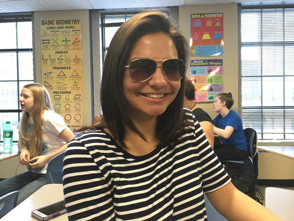 """""""What I like about Grand Center Arts Academy is that all of the students are very accepting and friendly,"""" Thalia Muyderman, Sophomore."""