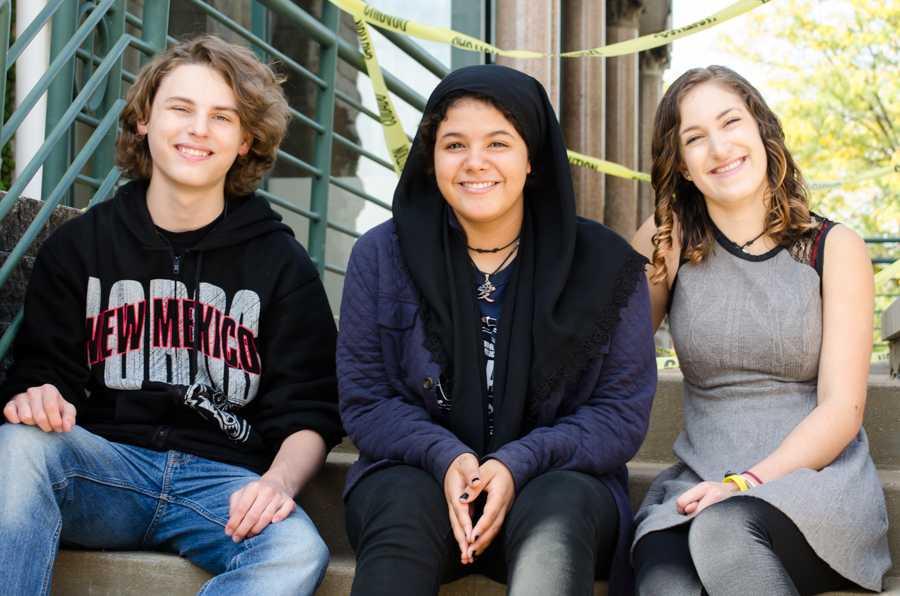 Left to right: Nicholas Baggett, Kareemah Thomas, Tessa Wild.