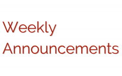 Weekly Announcements 5-16-17