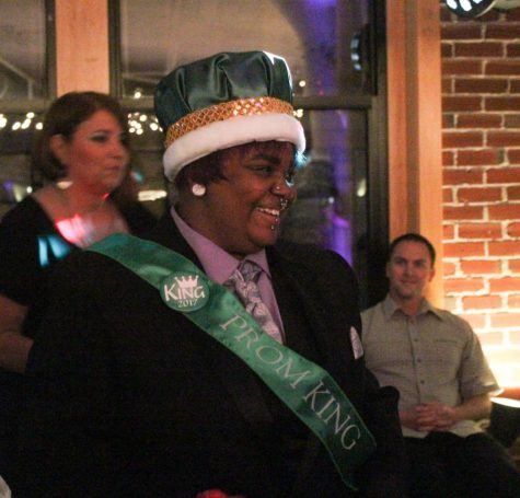 "Shane McDaniel, senior, just after winning Prom King. ""I was just really proud of my school for supporting me in things that I"