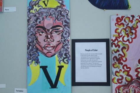 Students embody live portraits, inspired by the works of Alexa Meade
