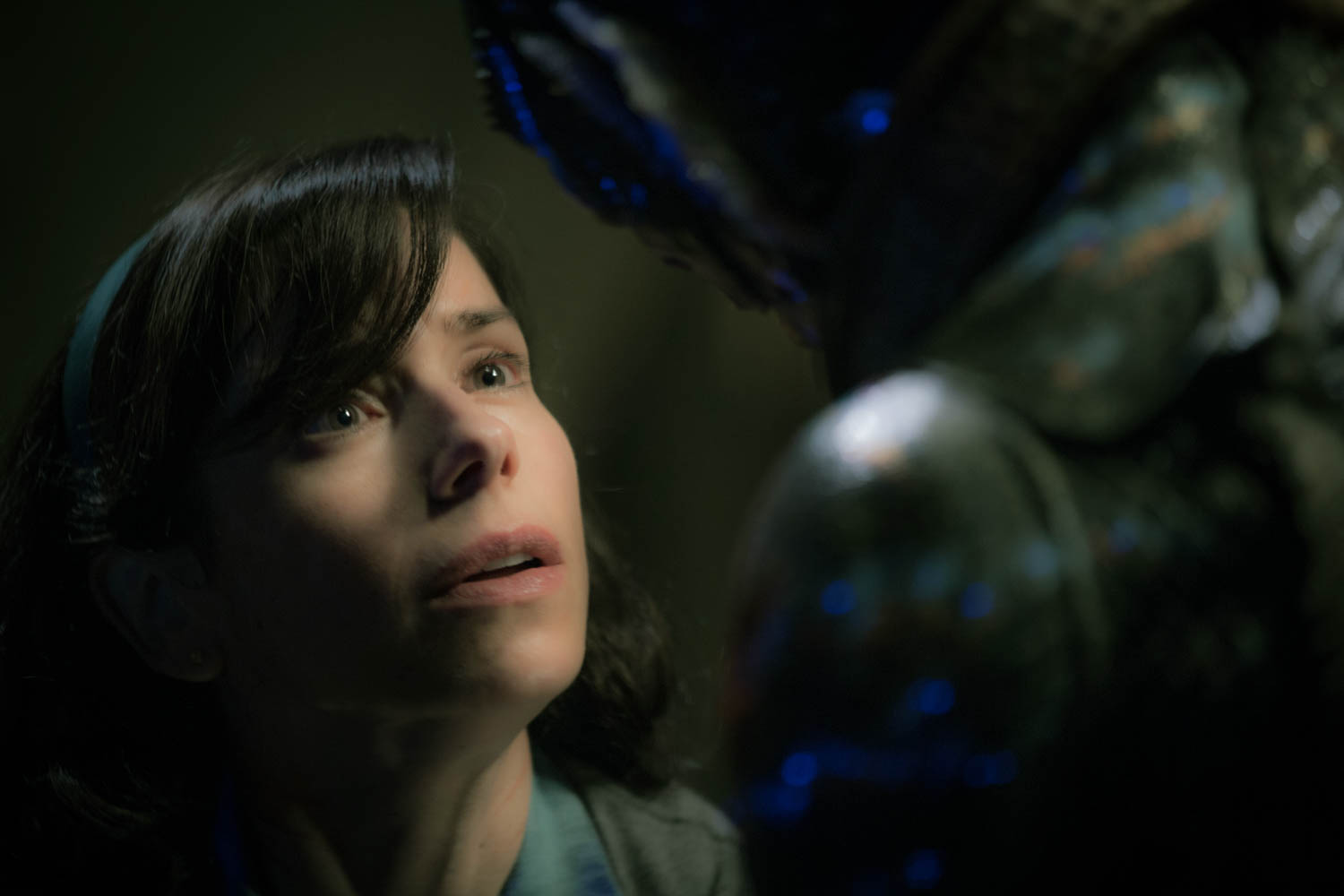 Sally Hawkins and Doug Jones in the film THE SHAPE OF WATER. Photo by Kerry Hayes. © 2017 Twentieth Century Fox Film Corporation All Rights Reserved. Used with permission.