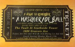 "Junior/senior prom this Saturday, theme ""Masquerade"""