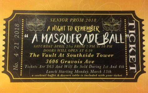 Advertisement for the 2018 junior/senior prom,
