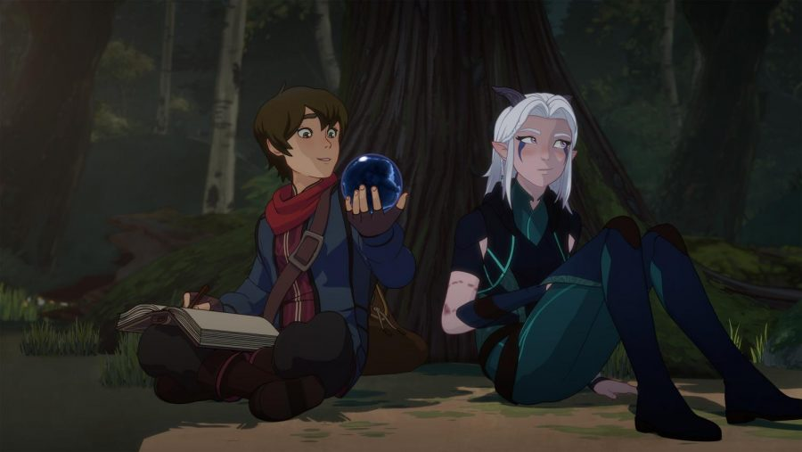 Callum (left) and Rayla (right) in Netflix's