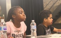 Middle school pie eating contest held as reward for high attendance