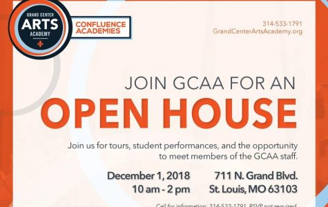 Flyer for the open house in the office and posted on the school website and social media.