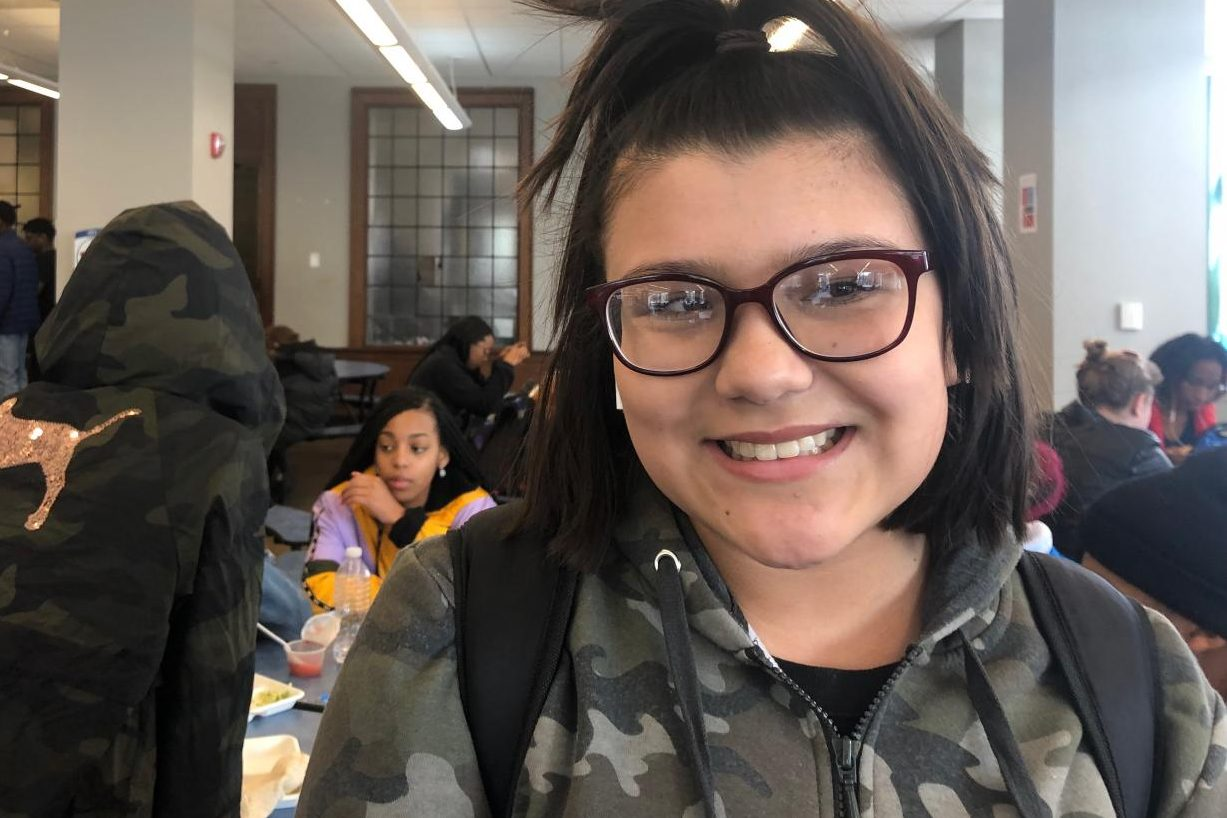"""""""My biggest passion is art because it allows me to do what I want and be creative"""" -Brianna Garcia, Freshman"""