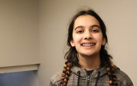 All-School Spelling Bee champion eighth grader Kavi Stevick.
