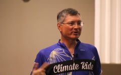 Environmental activist Tim Oey stops at GCAA to talk about his trip across country