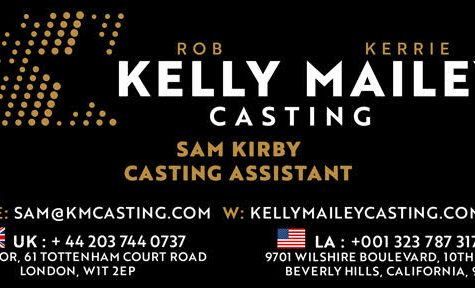 Casting assistant Kelly Mailey's contact card sent via email.