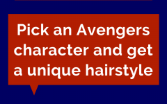 Pick an Avengers character and get a unique hair style