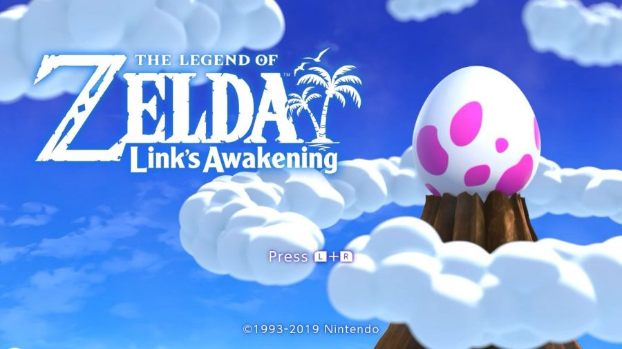 Screenshot of the title screen of Nintendo's