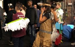 Middle school teams collaborate for Recycling Trashion Show