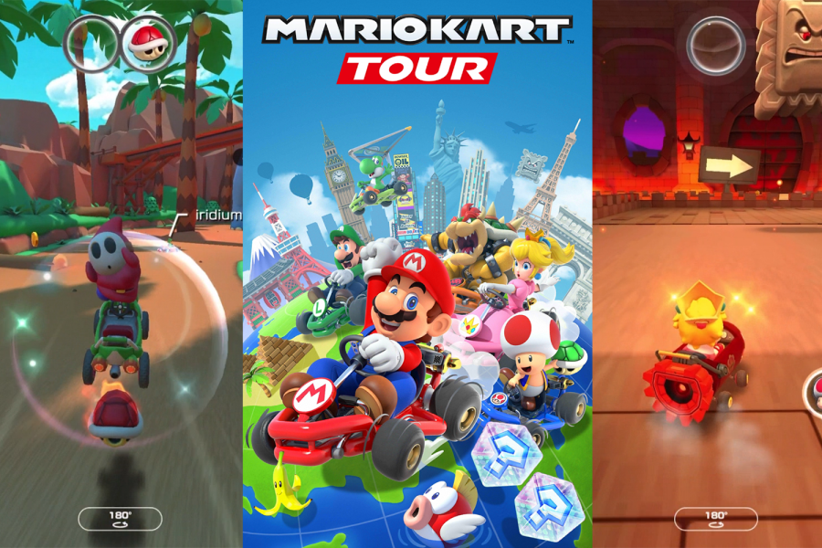 Screenshots of gameplay and loading screen from Nintendo's