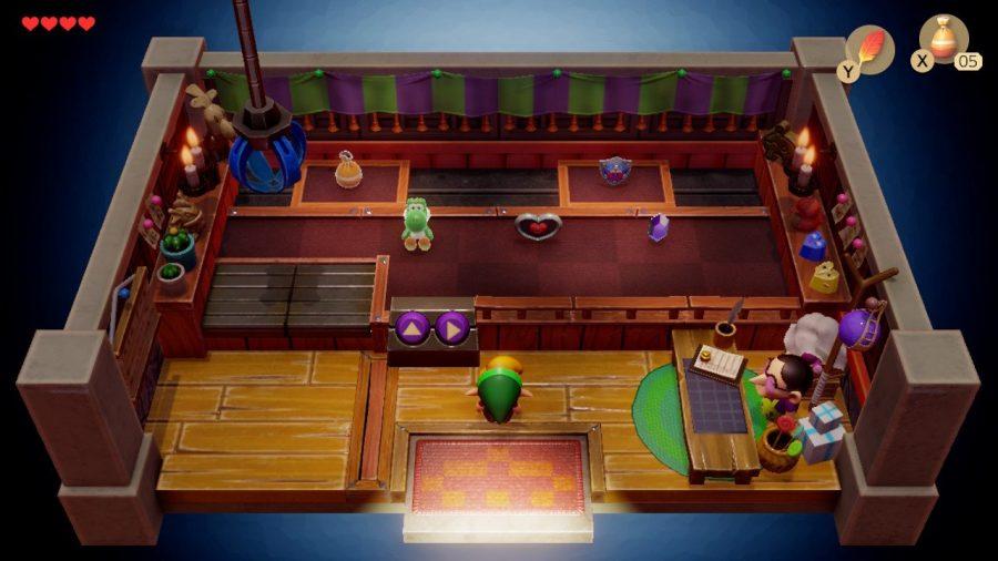 Screenshot of the crane mini game in Nintendo's