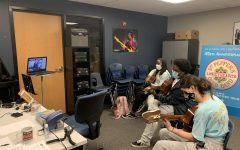 Pictures of guitar class during Music festival