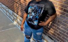Maya Hines, junior, shows off her fashion