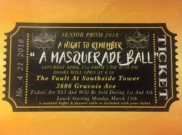 Advertisement For The 2018 Junior Senior Prom
